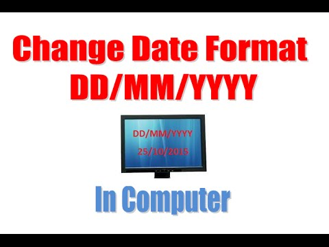 How to change date format in computer