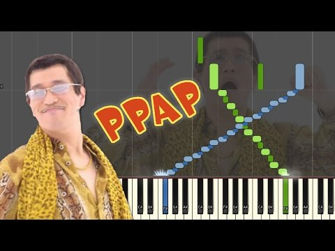PPAP Pen Pineapple Apple Pen (Piano Cover with MIDI & Sheet Music - Synthesia)