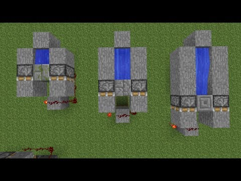 Minecraft How to Build a Circle Stone Brick Generator Mossy Stone Cracked Stone Generator