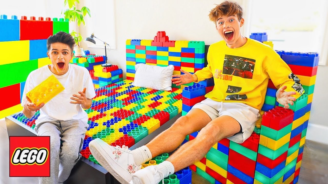 TURNED BRENT'S ROOM INTO LEGOS!!