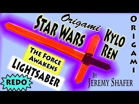 Origami Kylo Ren Lightsaber