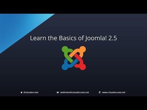 Learn the Basics of Joomla 2.5