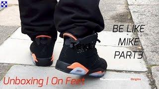 innovative design f70b6 1e7eb Mens AIR Jordan 6 Retro  Black Infrared  - Unboxing   On Feet - Be Like  Mike Part 3