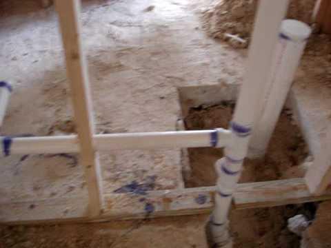 Plumbing in house