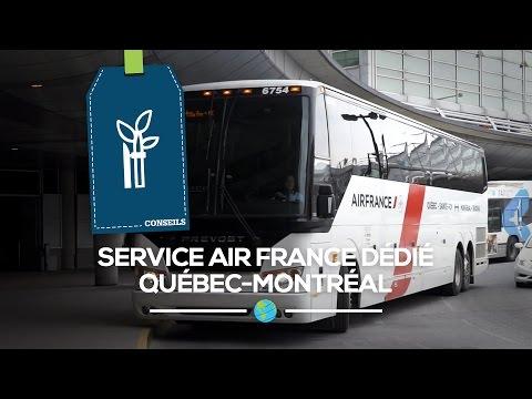 Le bus Air France entre Québec et Montréal