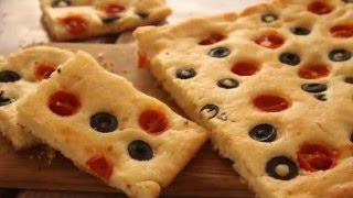 في الفرن - تارت بالخضار والمشروم + خبز بالطماطم الشيرى والزيتون - الجزء الثاني