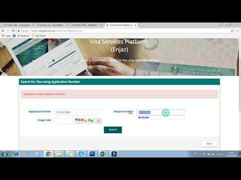 How to check visa stamping status on Enjaz
