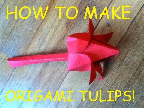DIY Origami craft tutorial: Tulip from 8 x 11 sheet of paper!