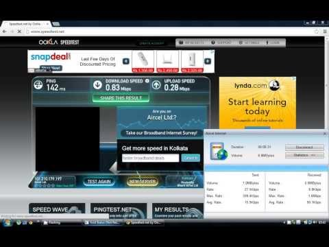 Aircel 3G Morning Internet Speed Test