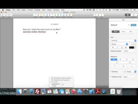 How to check word count in Pages - Mac Tutorial