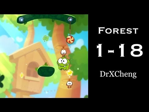 Cut the Rope 2 Walkthrough - Forest 1-18 - 3 Stars + Medal [HD]