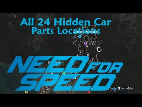 Need For Speed 2015-All 24 Hidden Car Parts Locations-NEW-