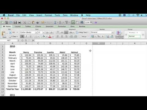 How to Save an Excel Spreadsheet to Look Like a Single Page : Using MS Excel
