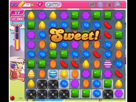 Candy Crush Saga Level 86 - 3 Stars No Boosters