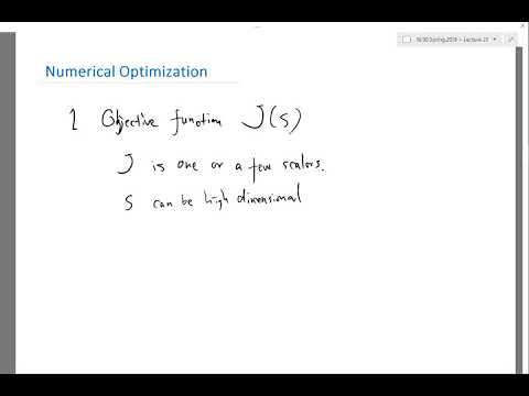 Introduction to Numerical Optimization