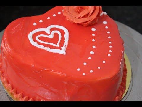 How To Make Red Velvet Mirror Glaze Cake | Recipe By Desi Zaiqa | Valentine's Day Special
