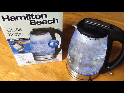 Hamilton Beach Electric Kettle | Boiling Water Demo Review | Model 40865
