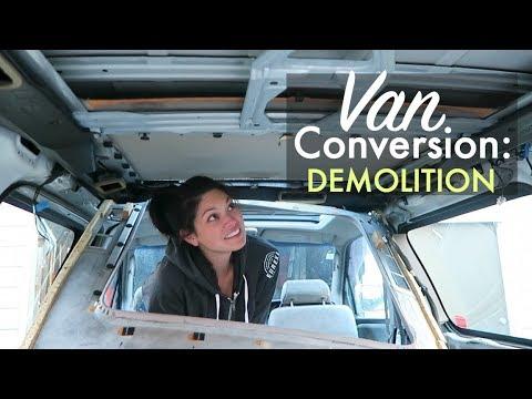Taking apart a Nissan Elgrand // CAMPER VAN CONVERSION EP. 3