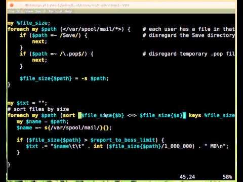 Beginner Perl Maven tutorial: 13.3 - reporting diskspace usage on mail server