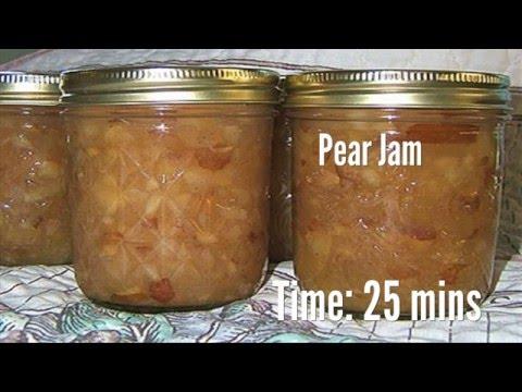 Pear Jam Recipe