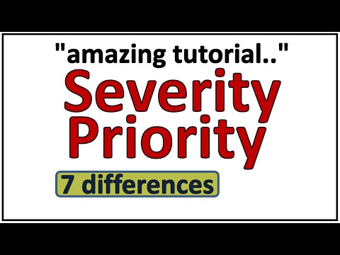 Severity and Priority in Software Testing