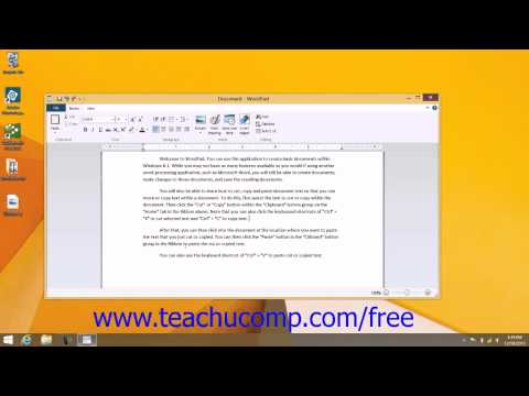 Windows 8.1 Tutorial Copying and Pasting Text Microsoft Training Lesson 7.2