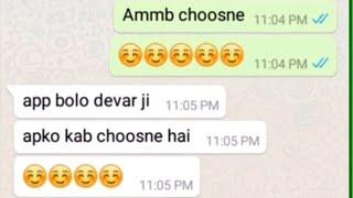 Bhabhi Amb Choosne Do Please  - Bhabhi Devar Romance Chatting - Hot Bhabhi Whatsapp Chating