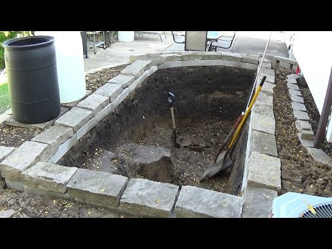 Building a New Garden Koi Pond (Part 1 of 3) - Backyard Fish Pond Documentary