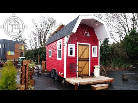Adorable Barn Shaped Tiny House with Space Saving Design