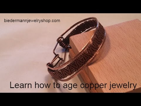 Learn how to age copper jewelry using a patina solution