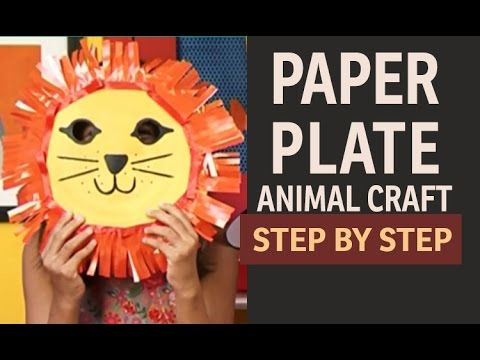 How to make Lion Paper Plate PARTY MASKS -