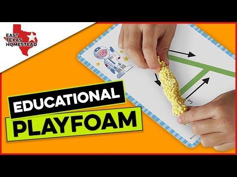 Homeschooling: Educational Playfoam with Shapes & Learn Alphabet Set | #EastTexasHomestead