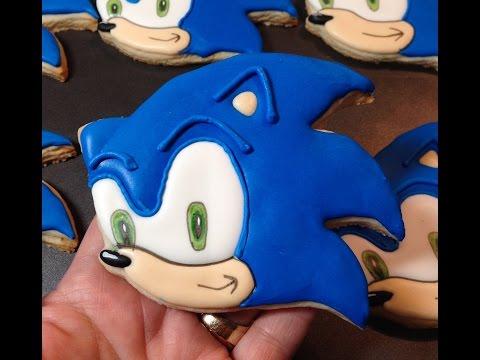 How To Make SONIC The Hedgehog Sugar Cookies