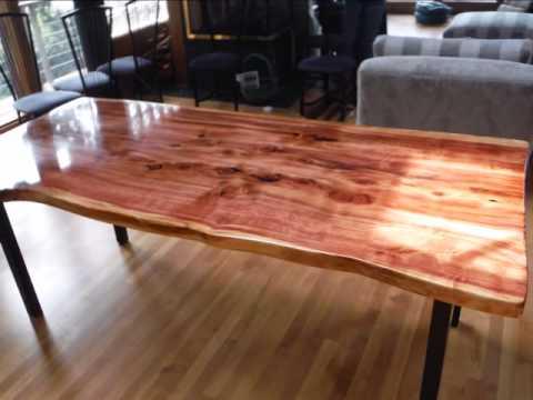 Live Edge Wood Slab Table Oregon Coast Job