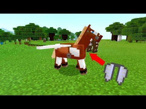 Flying Horse In Minecraft Pocket Edition 1.4+ !!!