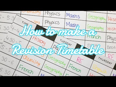 HOW TO MAKE A REVISION TIMETABLE| Floral Sophia