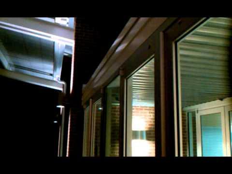 Hinge bound storefront aluminum doors