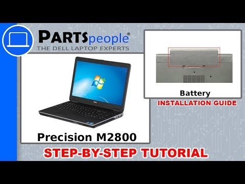 Dell Precision M2800 (P29F001) Battery How-To Video Tutorial