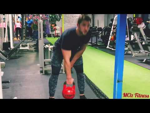 32kg Kettlebell Swing - 1 Arm Swings - Legday