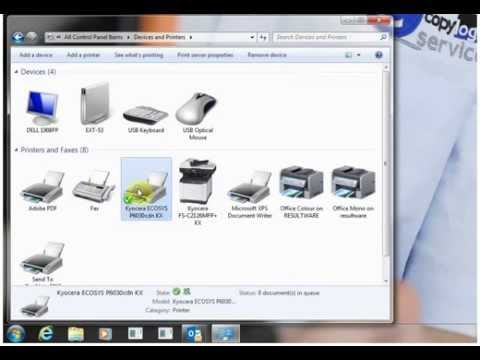 Install of Kyocera KX Driver for Kyocera printers & photocopiers