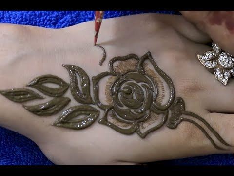 Art of Applying Perfect Rose Mehandi Pattern on Hand | How To Draw Mehendi Designs On Hands