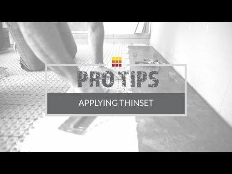 Tile Installation: Trowel Selection & Thinset Application