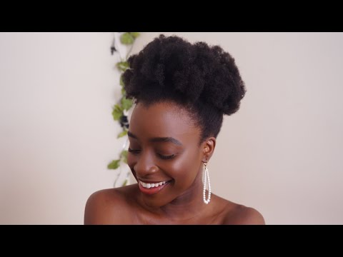 MY AFRO PUFF ON 4C NATURAL HAIR