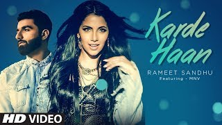 KARDE HAAN Video Song | Rameet Sandhu | MNV | New Song 2019