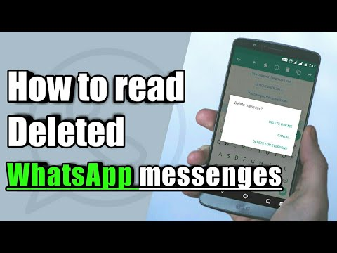 How to read the deleted WhatsApp messages | WhatsApp hack ✓