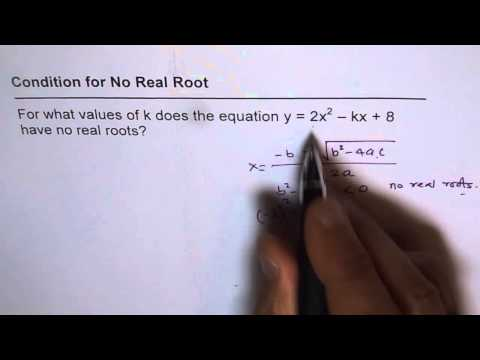 Condition For No Real Roots Test
