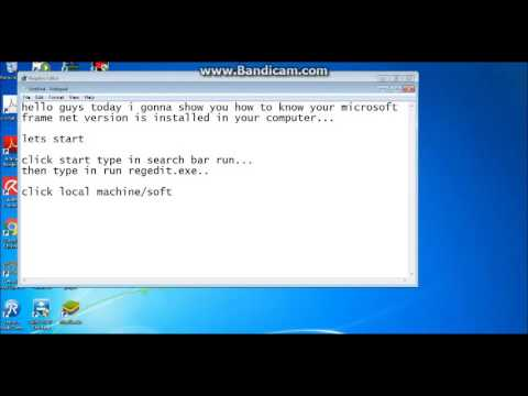 How to know what NET framework is installed in your PC