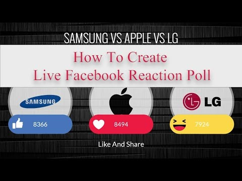 How To Create Live Facebook Reaction Poll