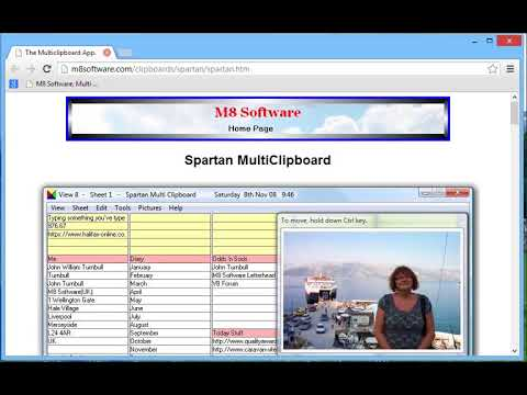 Spartan clipboard manager with Chrome and Windows 8