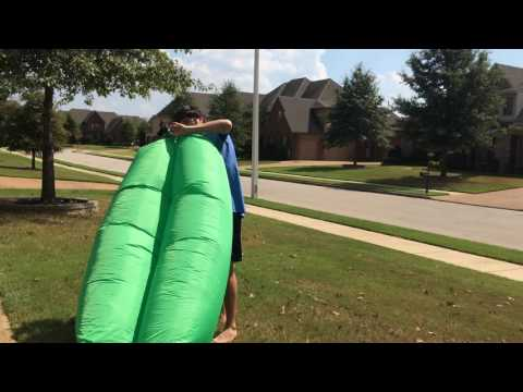 Outdoor inflatable lounger with secure clasp and 440 pound capacity by Winhi Brand